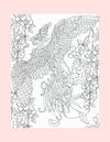 Coloring Page 20 Bird Spreading Wings - Self Care Pursuit