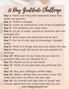 31 Day Gratitude Challenge - Self Care Pursuit
