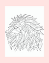 Coloring Page 36 Side Profile of Majestic Lion - Self Care Pursuit