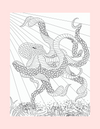 Coloring Page 40 Gorgeous Octopus - Self Care Pursuit