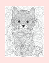 Coloring Page 43 Baby Fox Cub - Self Care Pursuit