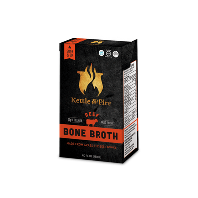 Bone Broth Soup Beef and Chicken Variety Pack by Kettle and Fire| Keto Diet, Paleo Friendly, Whole 30 Approved, Gluten Free, with Collagen, 7g of protein, 16.2 fl oz - Self Care Pursuit