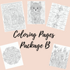 Coloring Pages Package B - Self Care Pursuit