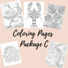 Coloring Pages Package C - Self Care Pursuit