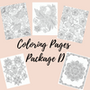 Coloring Pages Package D - Self Care Pursuit