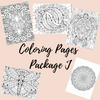 Coloring Pages Package J - Self Care Pursuit