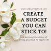 Self Care Budget Template - Self Care Pursuit