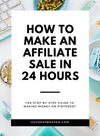 How to make Affiliate Sales using Pinterest - Self Care Pursuit