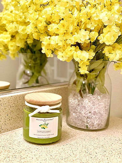 Marcella Candles Soothing Eucalyptus & Lemon Aromatherapy Candle Set - Self Care Pursuit