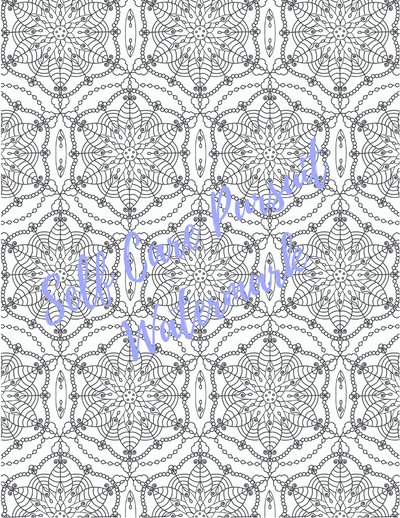 Coloring Page 11 Relaxing Design D - Self Care Pursuit