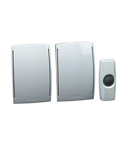 Byron Wirefree Plug In Wirefree Doorchime Twin Pack - BY533
