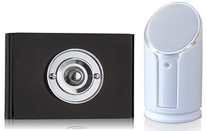 Byron Sentry 100m Extra Loud Wireless Portable Contemporary Doorbell kit Push on Perspex