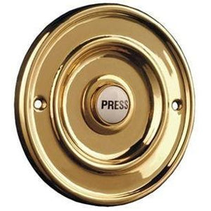 Wired Bell Push Brass 63mm