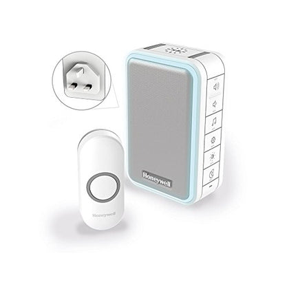 Honeywell Series 3 DC315NBS Plug-In White 150M Doorbell with Halo Light