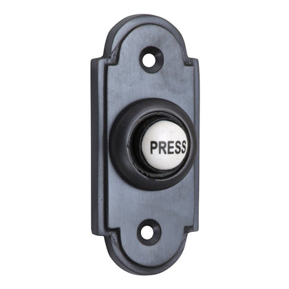 Black Shaped Bell Push with China Press