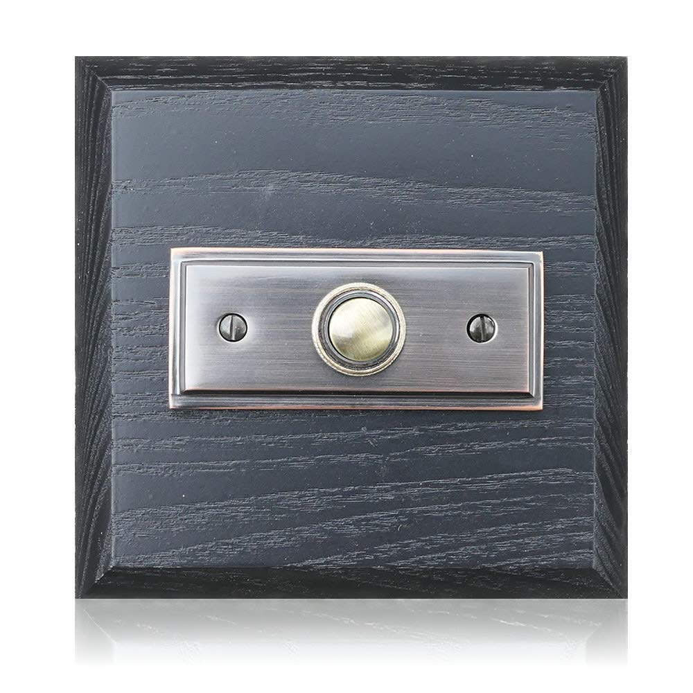 Black Ash Plinth, 114mm Square, with Period Style Push