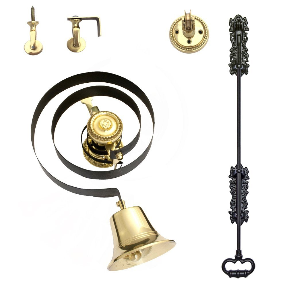Traditional Butlers Bell Kit with Black Iron Pull and Nylon Cord