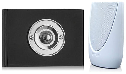 Byron 100m Wireless Portable Contemporary Doorbell kit Push on Perspex Plinth