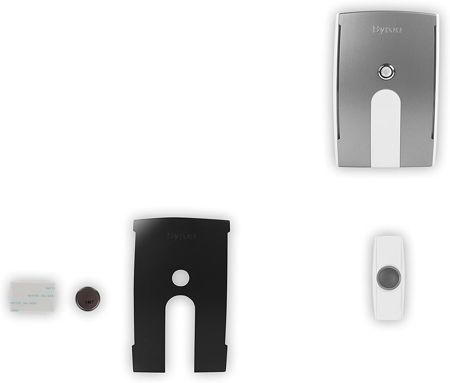 Byron BY504 125m Wireless Doorbell with Portable Flashing Chime