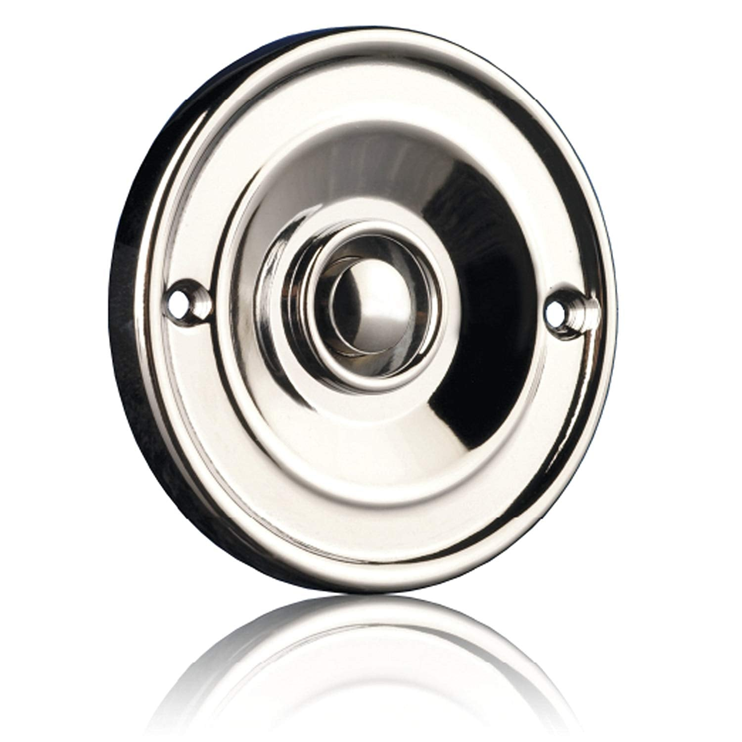 Byron 2207C Bell Push – Flush mounted – Chrome finish