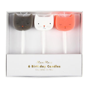 Cat Candles (6 Set) - Brown Sugar Party Boutique