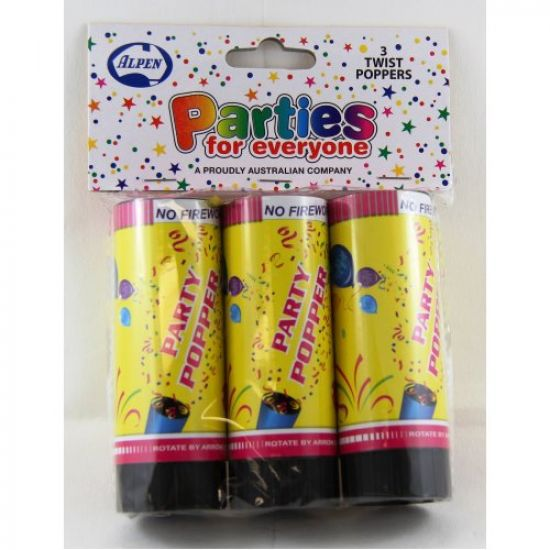 Party Popper - Pack of 3