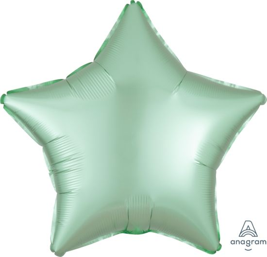 Mint Star Foil Balloon