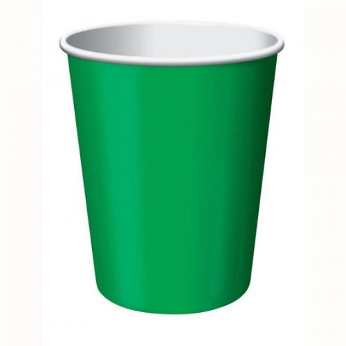 Emerald Green Paper Cups