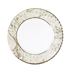 Party Porcelain Gold Marble Plate - Brown Sugar Party Boutique