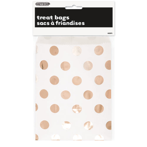 Rose Gold Spots Treat Bags