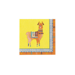 Fiesta Llama Napkins - Brown Sugar Party Boutique