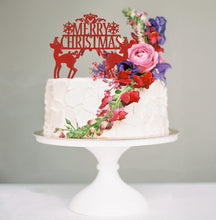Load image into Gallery viewer, Merry Christmas Cake Topper