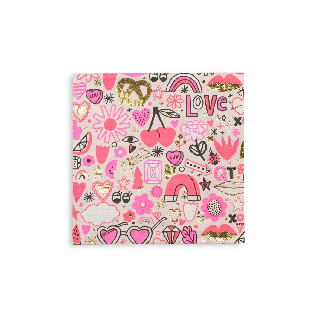 Love Notes Napkins - Brown Sugar Party Boutique