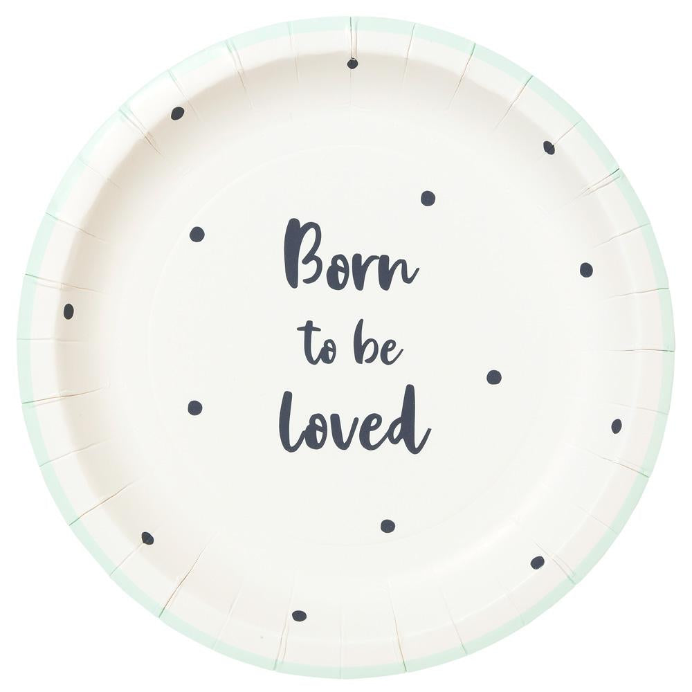 Born to be loved plate - small - Brown Sugar Party Boutique