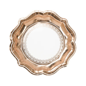 Party Porcelain Rose Gold Plate - Brown Sugar Party Boutique