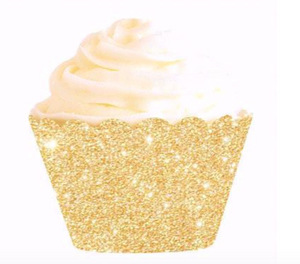 Gold Glitter Cupcake Wrapper