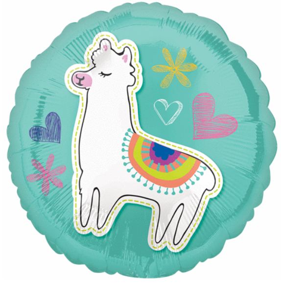 Llama Celebration Foil Balloon - Brown Sugar Party Boutique