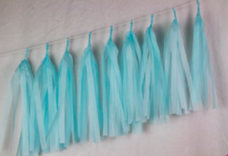 Baby Blue Tassels - Brown Sugar Party Boutique
