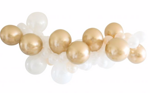 Gold and White DIY Balloon Garland
