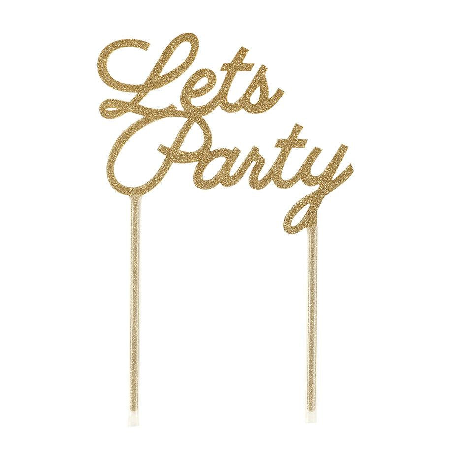 Let's Party Cake Topper - Brown Sugar Party Boutique