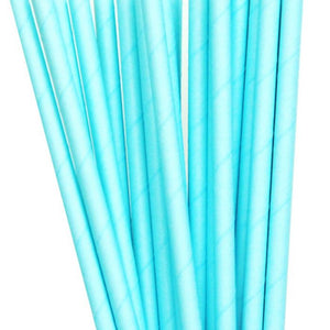 Light Blue Straws