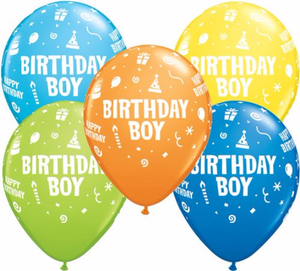 Birthday Boy Latex Balloons - Brown Sugar Party Boutique