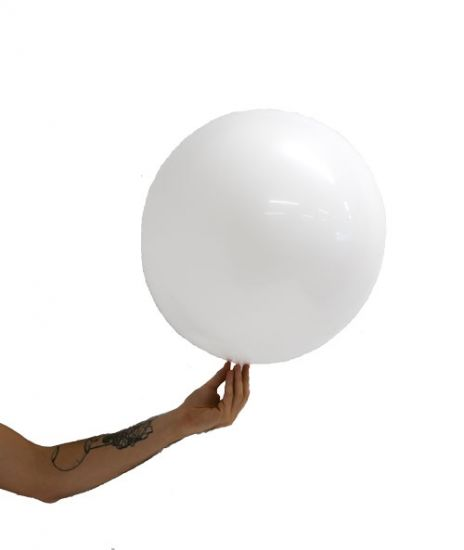 White Stretch Satin Ball - 45cm