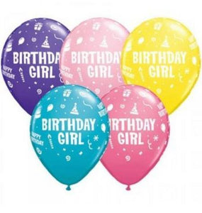Birthday Girl Latex Balloons - Brown Sugar Party Boutique