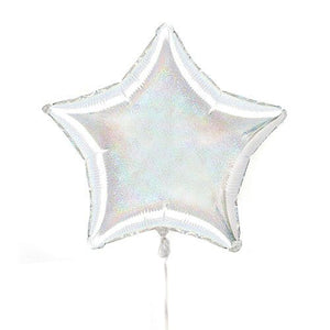 Silver star foil balloon