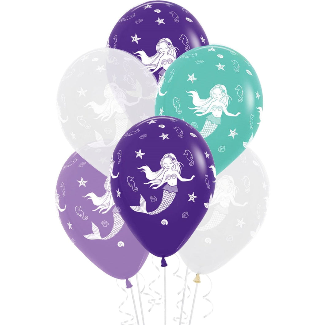 Mermaid Pastel Latex Balloons - Brown Sugar Party Boutique
