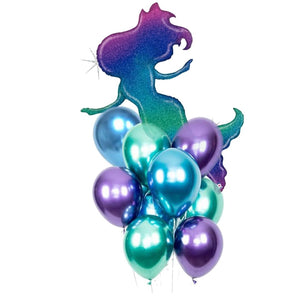 Mermaid Ombre Balloon Bunch