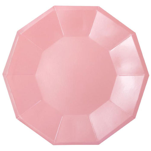 Pink foil hexagon plate