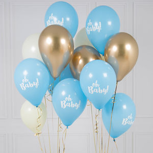 Oh Baby Blue Balloon Bunch