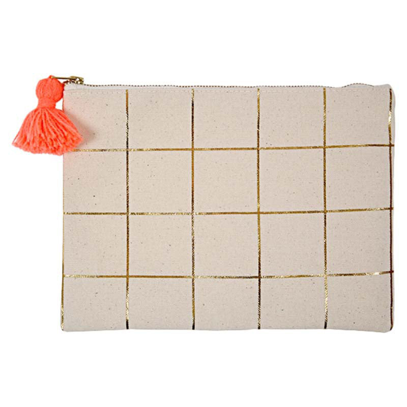 Gold grid clutch - Brown Sugar Party Boutique